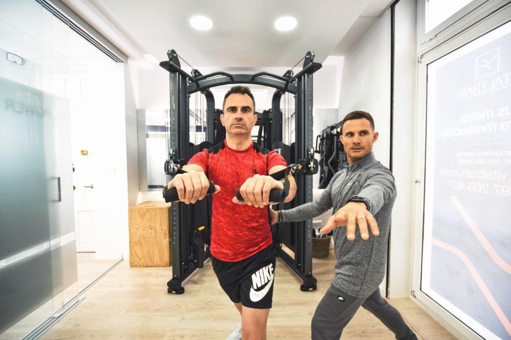 Entrenamiento personal en gimnasio Valencia